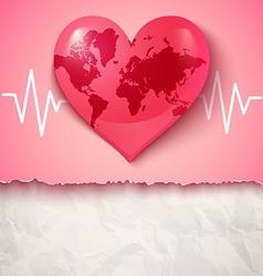 Heart clobal pulse vector