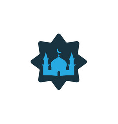 Masjid colorful icon symbol premium quality vector