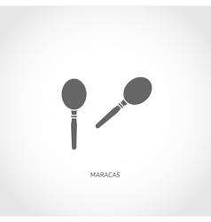 Musical instrument maracas flat icon vector