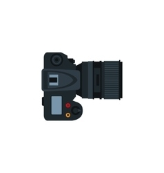 Professional photo camera top view vector