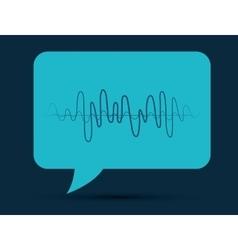 Sound of voice vector
