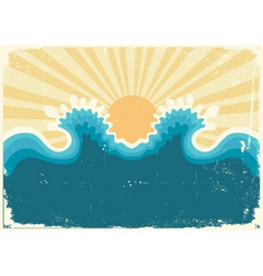 symbol of wavesblue nature seascape for design vector image vector image