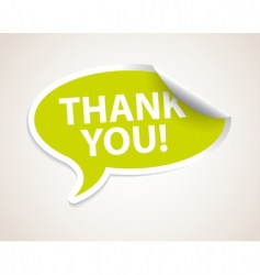 thank you speech bubble vector image vector image