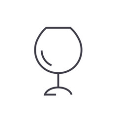 wine glassesalcochol line icon sig vector image