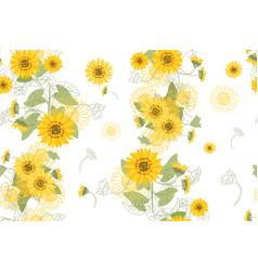yellow sunflowers vector image