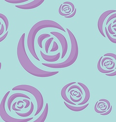 Pattern of light purple roses vector
