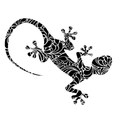 Lizard icon isolated on white vector
