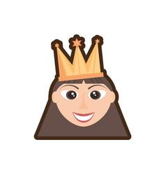 head girl crown celebration vector image