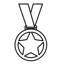 Championship medals isolated icon vector