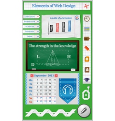 Elements of web design for schools vector