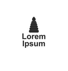 Company logo with pyramid vector