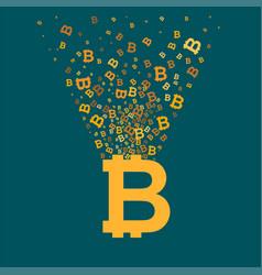 Bitcoin virtual currency concept vector