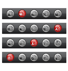 Documents 2 button bar series vector