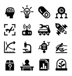 Invention research icon set vector