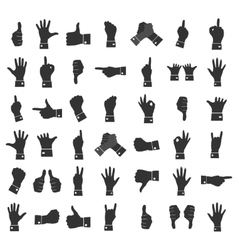 Icons hands vector