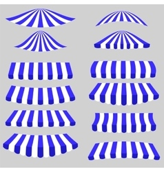 Blue white tents vector