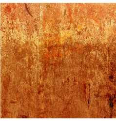 Orange grunge background rusty texture vector image