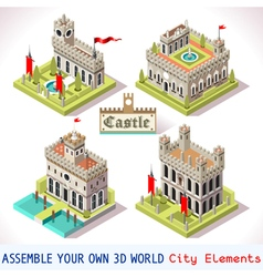Castle 02 tiles isometric vector