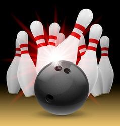 Bowling pins 14 vector image