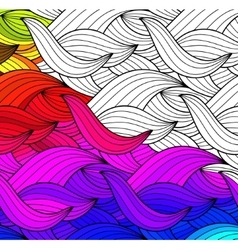 Abstract seamless fantasy pattern hand vector