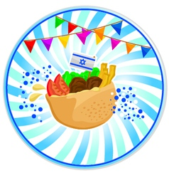 Falafel in pita vector