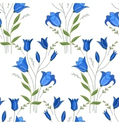 Seamless pattern with stylized cute bluebells vector image
