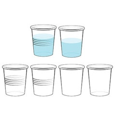 Plastic glass vector