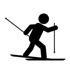 Skiing pictogram icon vector