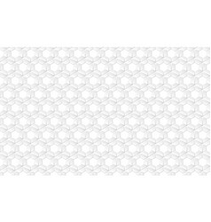 abstract white futuristic honeycomb cell pattern vector image