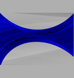 Beautiful dark blue abstract waves background vector