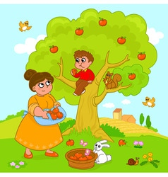 Big apple tree vector