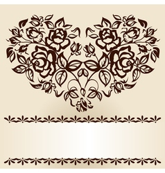 branches of roses vector image