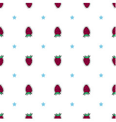 Bright flower seamless pattern with hand-drawn vector