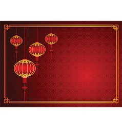 Chinese lantern template vector
