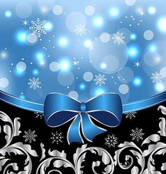 Christmas floral packing ornamental design vector image