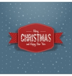 Christmas red greeting Card and Ribbon vector image
