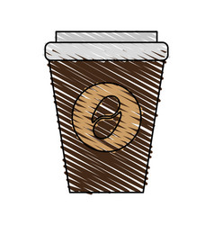 disposable cup coffee related icon image vector image vector image