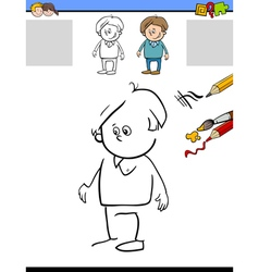 draw and color task vector image vector image