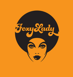 Foxy lady retro vector