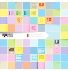 inofographic template squares background vector image vector image
