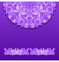 lace pattern with shadow vector image