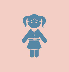 Little girl kid vector