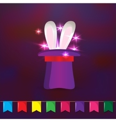 Magic hat with rabbit ears Elements for party vector image vector image