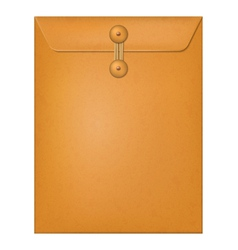 Manila envelope isolated on a white background vector image vector image