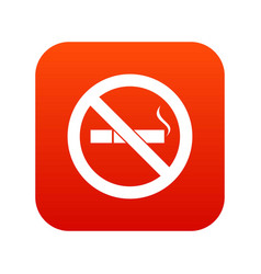 no smoking sign icon digital red vector image