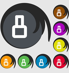 Number eight icon sign symbols on eight colored vector