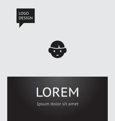 of kin symbol on boy icon vector image vector image