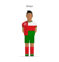 Oman football player soccer uniform vector