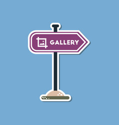paper sticker on stylish background sign gallery vector image vector image