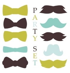 Retro party set vector image